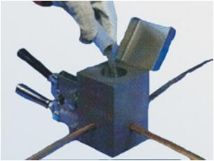 Cross-ShapedMelting and Welding Crucible